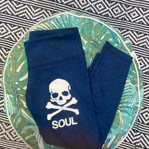 Lululemon Soul Cycle skull leggings